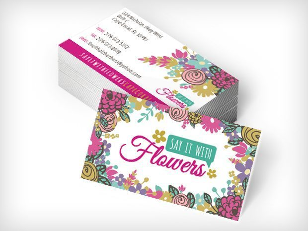 Say it with Flowers – Business Cards