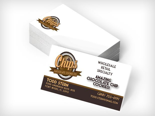 Chips cookie company business cards this creative biz cards biz cards colourmoves