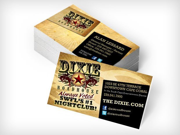Dixie Roadhouse – Business Cards