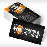 HB Marble & Granite business cards