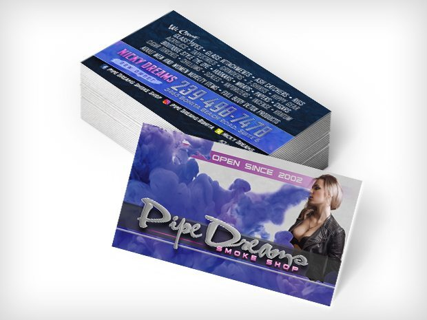 Pipe Dreams Smoke Shop – Business Cards