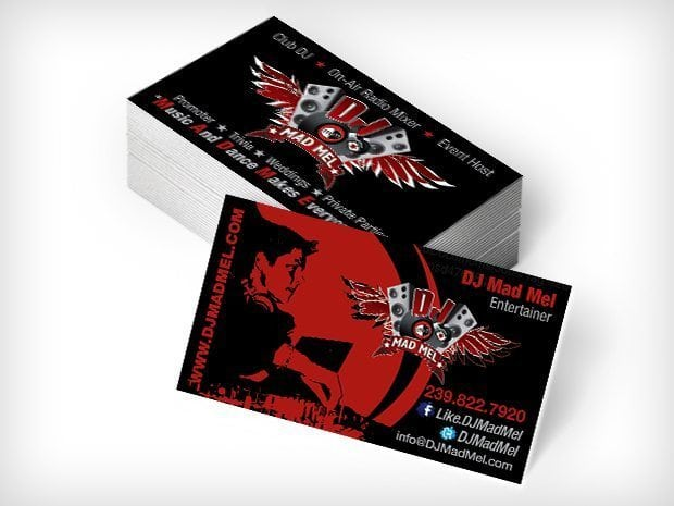 Same day business cards this creative in fort myers cape coral dj mad mel this creative business cards colourmoves